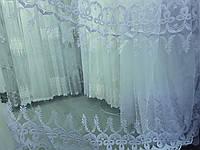 Тюль на фатиновой основе с пустыми полями , оптом, фото 1