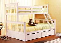 Двухъярусная кровать Жасмин из массива бука. Собственное производство. Доставка.