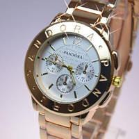 Часы 0011 наручные женские часы золото+белый циферблат