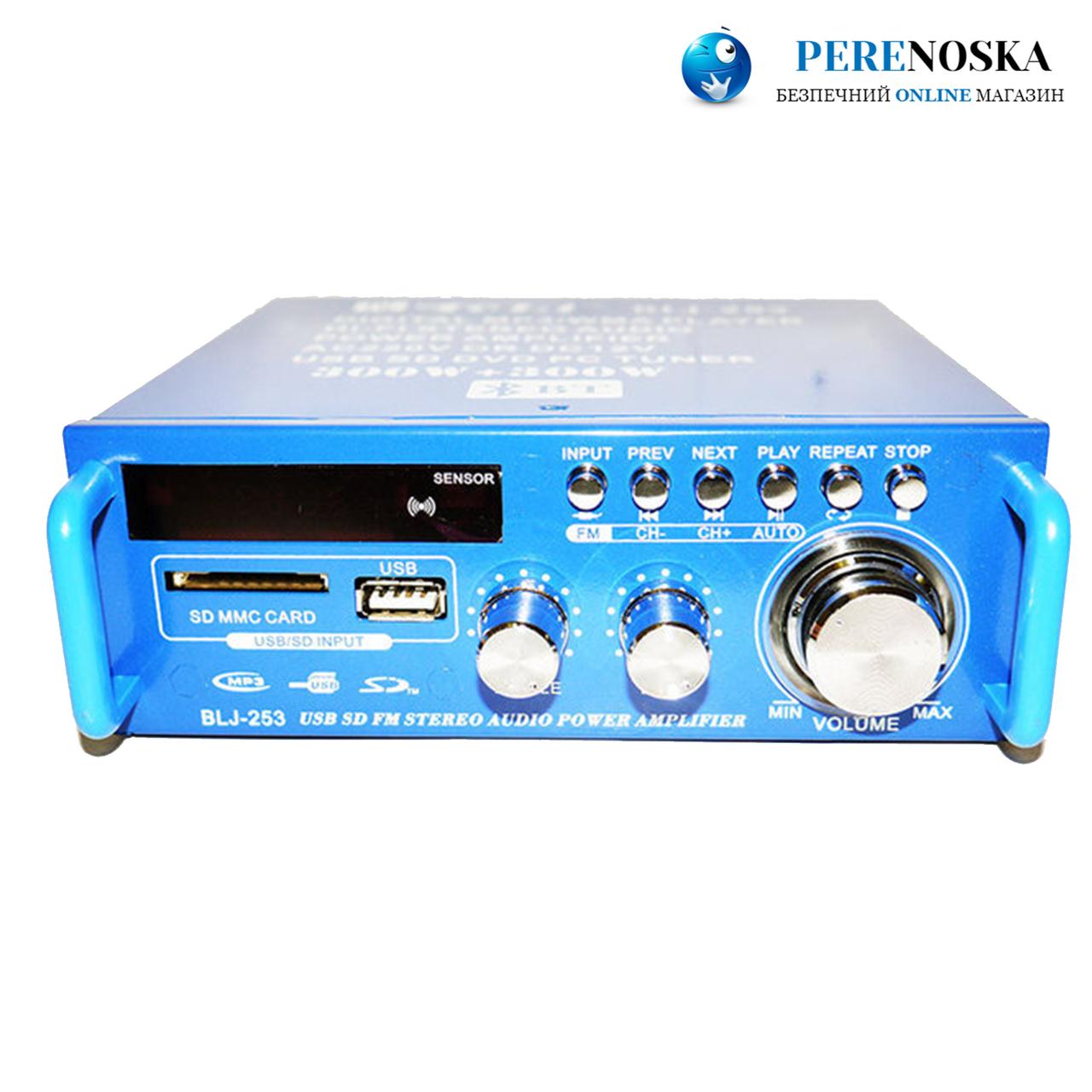 Усилитель звука BLJ-253A Bluetooth Стерео усилитель USB/FM