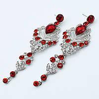 """Серьги-люстры """"Каприз""""  декорированы камнями и кристаллами"""