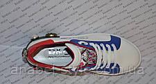 Кроссовки Женские Dolce & Gabbana эко-кожа белые с синими и красными вставками Код 1365, фото 2