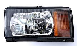 Блок фара головного света ВАЗ 2104, 2105, 2107 левая, оранжевый указатель