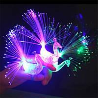 Творческий красочный павлин Finger Светодиодный Кольцо для вечеринок Аплодисменты Новинки Игрушки Подарок для детей