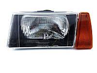 Блок фара головного света ВАЗ 2108, 2109, 21099 левая, черный корпус
