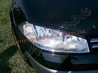 Реснички на передние фары для Renault Megane 2 2002-2009