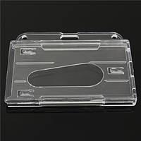 Мульти жесткий пластиковый горизонтальный 3card держатель прозрачный бейдж идентификатор обложка