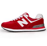Кроссовки New Balance 574 Red White Красные женские реплика