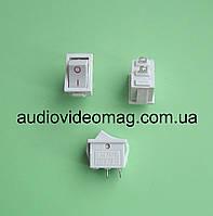 Микро кнопочный выключатель 250V 2A, 12.85 х 8.9 мм, белый