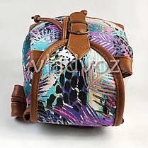 Молодежный модный рюкзак подросток девочка коричневый природа на шнурке, фото 3