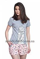 Піжама ELLEN жіноча з шортами та футболкою Мрійниця (Зірочки) 018/001