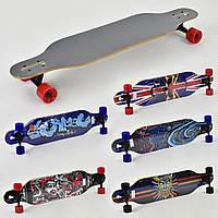 Лонгборд дека 104 см, колёса PU 7 см, канадский клен, подшипники ABEC-11, Скейтборд, скейт