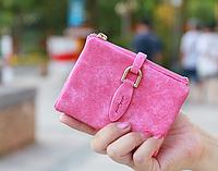 Кошелек женский ярко-розовый