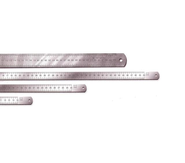 Линейки металлические с двусторонней шкалой ГОСТ 427-75