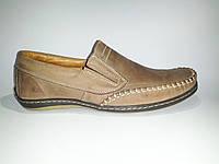 Мокасины мужские кожаные коричневые Basso 210-95