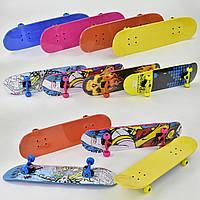 Скейт для подростков и взрослых дека 80 см, колёса PU 5,5 см, канадский клен, подшипники ABEC-7, Скейтборд