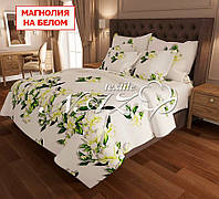 Полуторный набор постельного белья - Магнолия на белом aa1c2b5742cb8