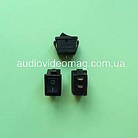 Микро кнопочный выключатель 250V 2A, 12.85 х 8.9мм, чёрный