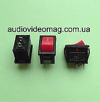 Микро кнопочный выключатель 250V 2A, 12.85 х 8.9 мм, красный