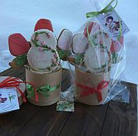 Пряничный букет - эксклюзивный, вкусный и красивый подарок на 8 Матра в коробочке из натурального дерева.