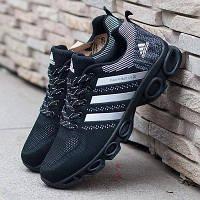77cff3f9 Кроссовки Adidas Marathon TR 26 Black Черные женские реплика 39 (24,5 см)