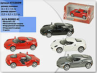 Машина металл KINSMART KT5366W 96шт4 Alfa Romeo 4C, в кор,168,57,5cm