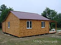 Дачный домик с террасой и хозблоком
