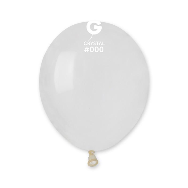 """Воздушные шары кристалл прозрачный 5"""" (13 см) Gemar"""
