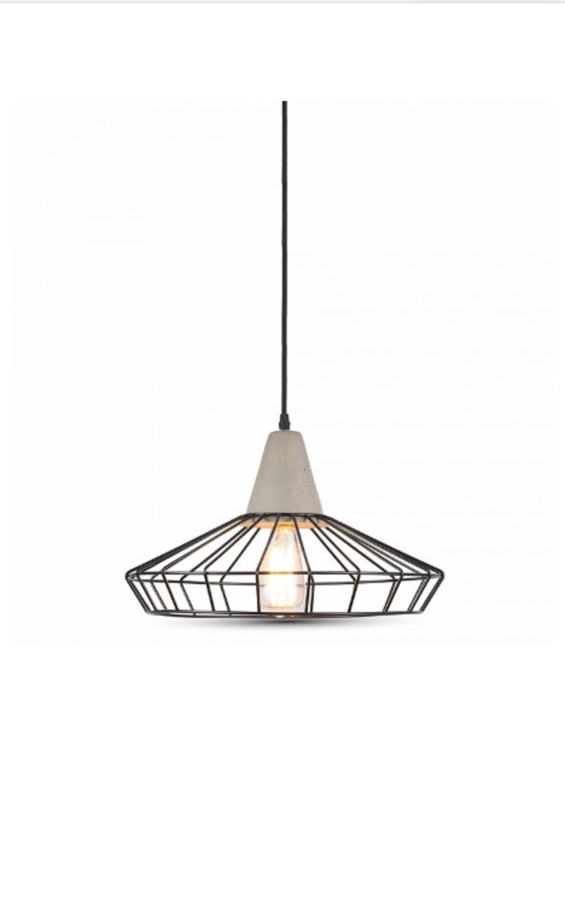 Бетонный подвесной светильник Concrete+Mesh Ф330мм