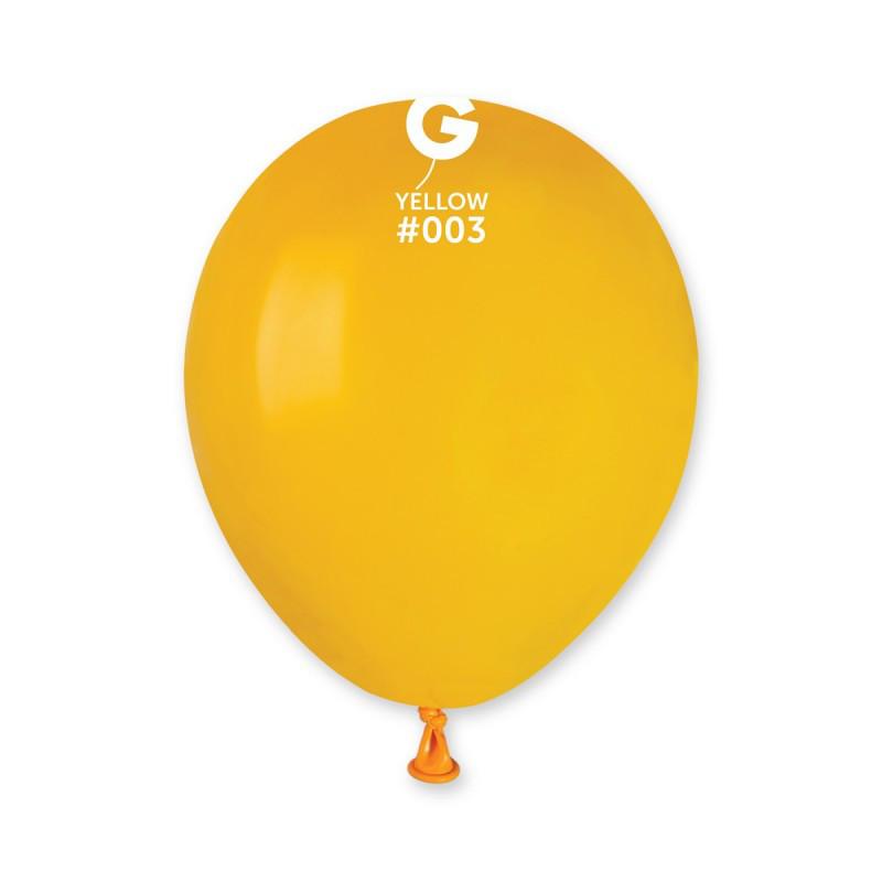 """Воздушные шары пастель желтый 5"""" (13 см) Gemar"""