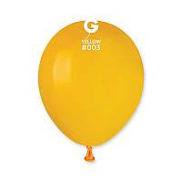 """Пастель желтый 5"""" (13 см). Шарики воздушные купить оптом. Gemar"""