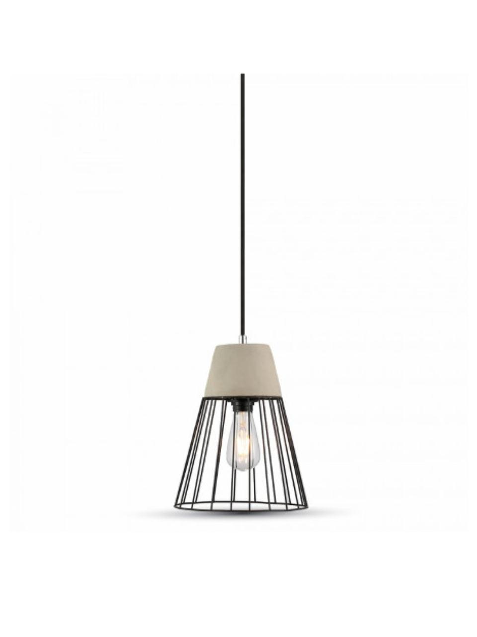 Бетонный подвесной светильник Concrete+Mesh 250мм