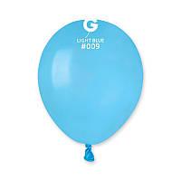 """Воздушные шары пастель светло голубой 5"""" (13 см) Gemar"""