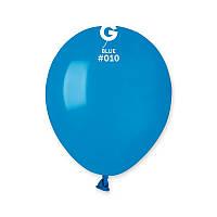 """Воздушные шары пастель синий 5"""" (13 см) Gemar"""