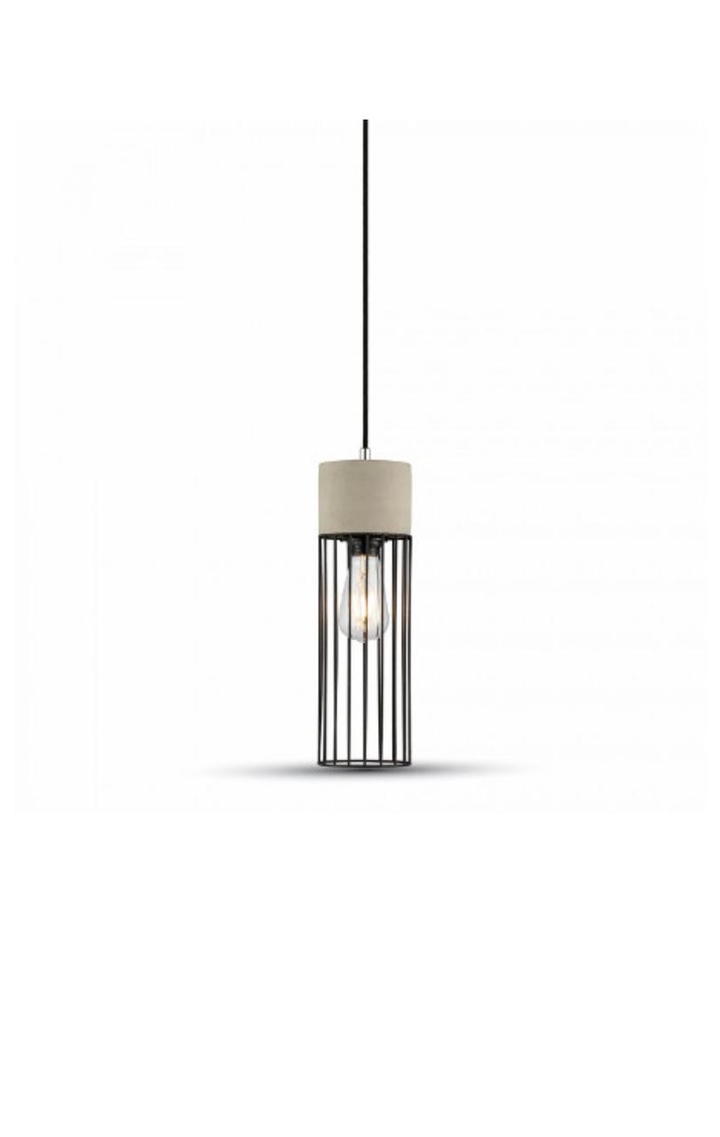 Бетонный подвесной светильник Concrete+Mesh 120мм