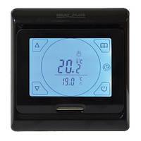 Сенсорный программируемый терморегулятор Heat Plus M9.716 Black, фото 1