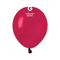 """Воздушные шары пастель бургунд 5"""" (13 см) Gemar"""