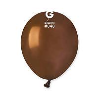 """Воздушные шары Пастель коричневый 5"""" (13 см) Gemar"""