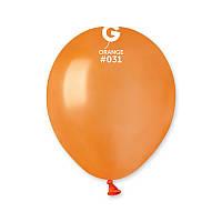 """Воздушные шары оранжевый металлик 5"""" (13 см) Gemar"""