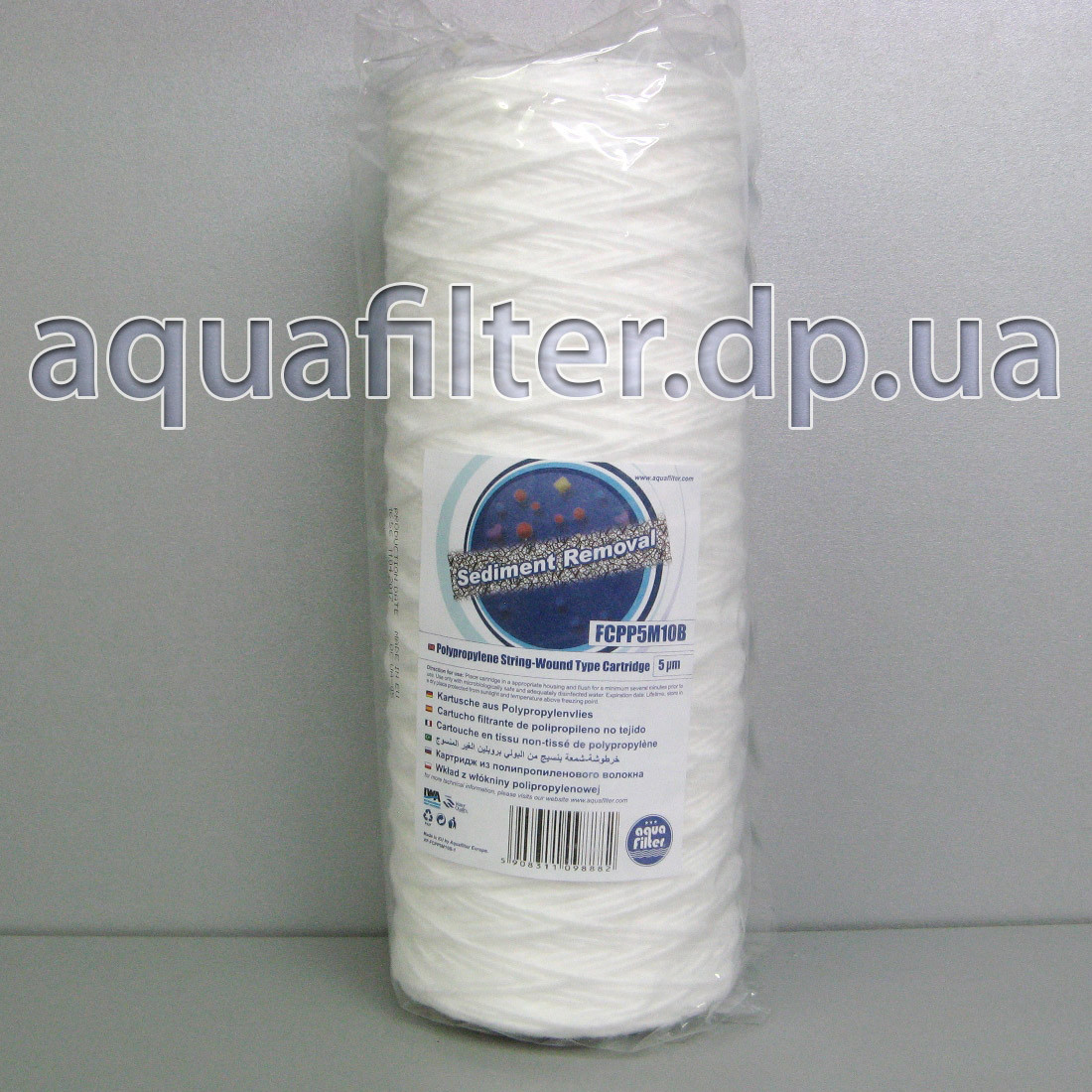 Нитяной картридж Aquafilter FCPP5M10B 5 мкм 10 Big Blue 10BB
