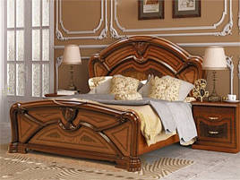 Ліжко з ДСП/МДФ в спальню вишня Прімула 1,6х2,0 підйомне з каркасом Миро-Марк