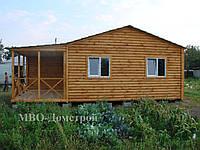 Дачный дом с террасой и санузлом
