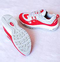 Мужские кроссовки Nike Air Max 98 Supreme Red Grey топ реплика, фото 2