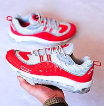 Мужские кроссовки Nike Air Max 98 Supreme Red Grey топ реплика, фото 3