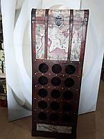 """Сундук для бутылок, винотека большая, винный шкаф, """"Винная карта"""""""