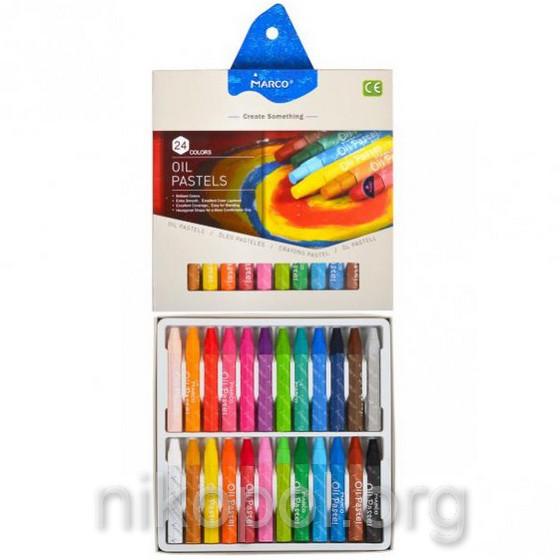 Пастель масляная MARCO 4800ОР-24СВ, 24 цвета