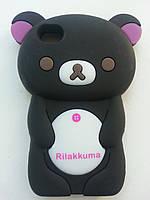 """Силиконовый черный чехол """"Мишка"""" iphone 4/4s"""