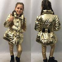 Детский плащ на девочку плащевка металлик Хит сезона 2018