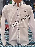 Стильная стрейчевая рубашка для мальчика 6-14 лет (опт)(белая 01) (пр. Турция)
