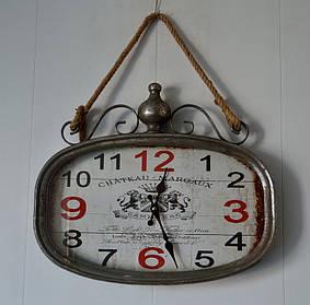 Настенные металлические кварцевые часы на канате